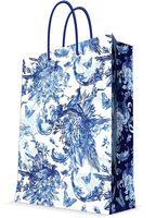 "Пакет бумажный подарочный ""Голубые цветы"" (26х32,4х12,7 см; арт. 44238)"