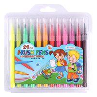 """Набор фломастеров цветных """"Brush Pens"""" (24 цвета)"""