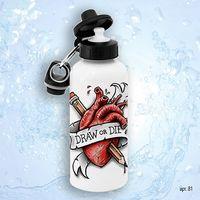 "Бутылка для воды ""Draw or Die"" (600 мл)"