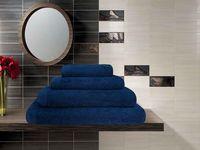 Полотенце махровое (50x100 см; темно-синее)
