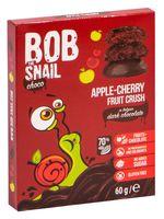 """Конфеты фруктовые """"Bob Snail. Яблоко-вишня в черном бельгийском шоколаде"""" (60 г)"""
