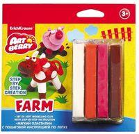 "Пластилин ""Farm. Step-by-step Сreation"" (4 цвета)"