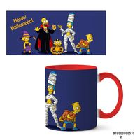 """Кружка """"Хэллоуин Симпсоны"""" (арт. 531, красная)"""