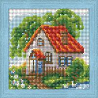 "Алмазная вышивка-мозаика ""Летний домик"" (150х150 мм)"