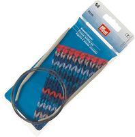 Спицы круговые для вязания (алюминий; 5 мм; 80 см)