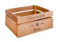 """Кашпо """"Flowerpot De Rose"""" (25х15х11 см; коричневое)"""