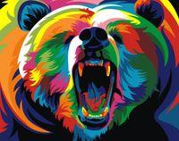 """Картина по номерам """"Радужный медведь"""" (165х130 мм)"""