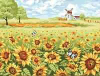 "Картина по номерам ""Солнечная поляна"" (400x500 мм; арт. MG164)"