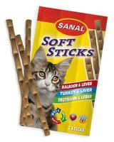 """Лакомство для кошек """"Soft Sticks"""" (3 шт.; домашняя птица и печень)"""