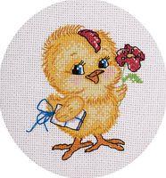"""Вышивка крестом """"Цыпленок"""""""