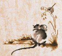 """Вышивка крестом """"Мышка"""" (200х200 мм)"""