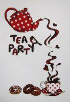 """Вышивка крестом """"Чайная вечеринка"""""""