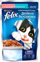 """Пресервы для кошек """"Аппетитные кусочки"""" (85 г; лосось и форель в желе)"""