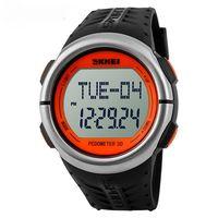 Часы наручные (чёрно-оранжевые; арт. SKMEI 1058-3)