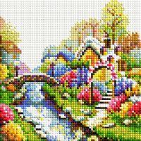 """Алмазная вышивка-мозаика """"Лето"""" (200х200 мм)"""