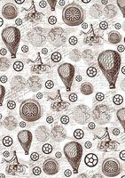 """Пленка-оверлей """"Стимпанк. Воздушные шары и компас"""" (210х300 мм)"""