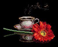 """Вышивка крестом """"Кофе для нее"""" (270x220 мм)"""