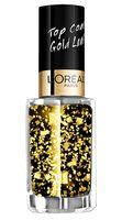 """Верхнее покрытие для ногтей """"Color riche"""" (тон: 920, золотые листья)"""