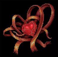 """Вышивка крестом """"Сердце для тебя"""" (190х190 мм)"""