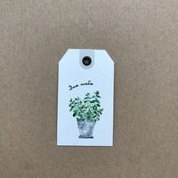 """Тег-ярлычок для скрапбукинга """"Для тебя. Растение"""""""