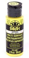 "Краска акриловая ""FolkArt Multi-Surface"" (желтый неон; 59 мл; арт. PLD-02976)"