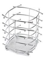 Подставка для столовых приборов металлическая (140х140х160 мм)
