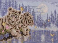 "Вышивка крестом ""Тигрята"""