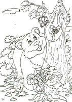 """Картина из песка """"Медведь"""" (210х290 мм)"""
