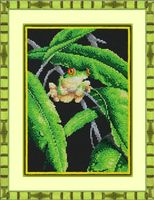 "Вышивка бисером ""Древесная лягушка"" (200х280 мм)"