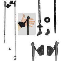 Палки для скандинавской ходьбы двухсекционные Ergo-50 (110-140 см; чёрные)