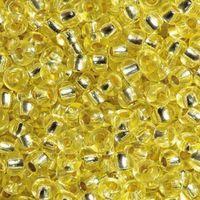 Бисер прозрачный с серебристым центром №08283 (светло-желтый; 10/0)