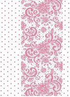 """Пленка-оверлей """"Узоры и горошек"""" (210х300 мм; розовый)"""