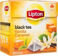 """Чай черный """"Lipton. Vanilla Caramel"""" (20 пакетиков)"""