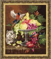 "Вышивка крестом ""Ваза с фруктами"" (409х339 мм)"