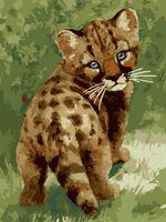 """Картина по номерам """"Детеныш леопарда"""" (400х300 мм)"""
