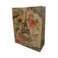 """Пакет бумажный подарочный """"Париж"""" (14х18,5х10 см; арт. 10645943)"""