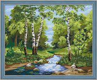 """Картина по номерам """"Лесной ручей"""" (400х500 мм)"""