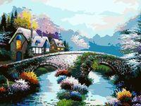 "Картина по номерам ""Старинный мост"" (300х400 мм)"
