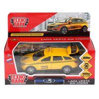 """Модель машины """"Lada Vesta SW Cross. Такси"""" (арт. VESTA-CROSS-T)"""