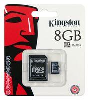 Карта памяти micro SDHC 8Gb Kingston Class 4 (с адаптером)