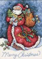 """Вышивка крестом """"Счастливого Рождества, Санта!"""" (180х130 мм)"""