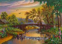 """Набор для вышивания """"Мост над рекой"""""""