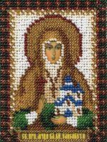 """Вышивка бисером """"Преподобная мученица Великая княгиня Елизавета"""" (85х105 мм)"""