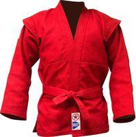 Куртка для самбо JS-303 (р. 3/160; красная)
