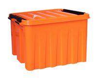 Ящик для хранения с крышкой (3,5 л; оранжевый)