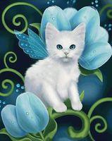 "Алмазная вышивка-мозаика ""Белый кот"" (400х500 мм; арт. 7713106)"