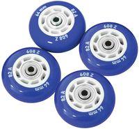 Набор светящихся колес для роликов (4 шт.; ABEC-5; синий)