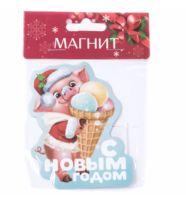 """Магнит пластмассовый """"Поросенок"""" (70х85 мм)"""