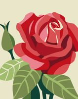 "Картина по номерам ""Роза"" (165х130 мм)"