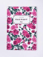 """Обложка на паспорт """"Розы"""""""